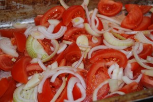 tomater och lök