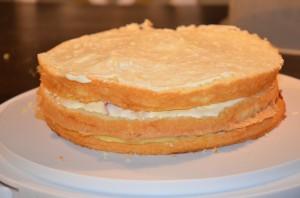 tre lager tårta