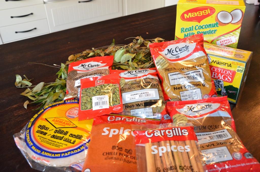 kryddor från Sri Lanka