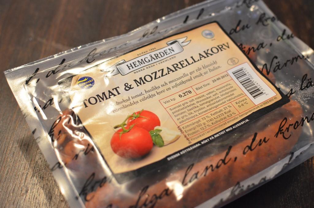 tomat- och mozzarellakorv