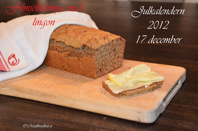 Buttermilk loaf with lingonberries