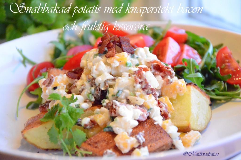 Bakad potatis fruktkeso