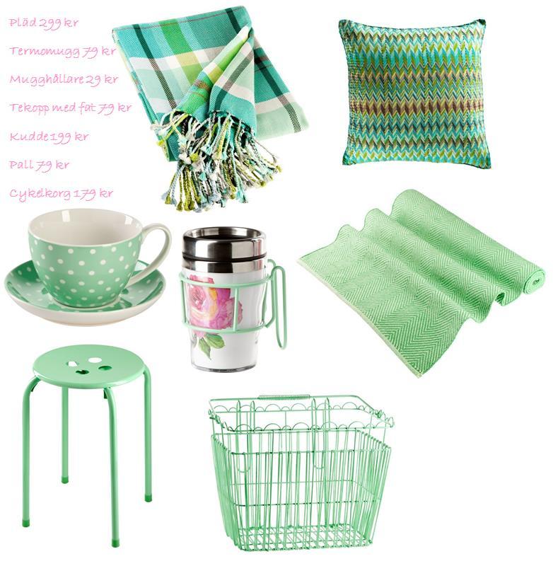 Mint green Mintgrön