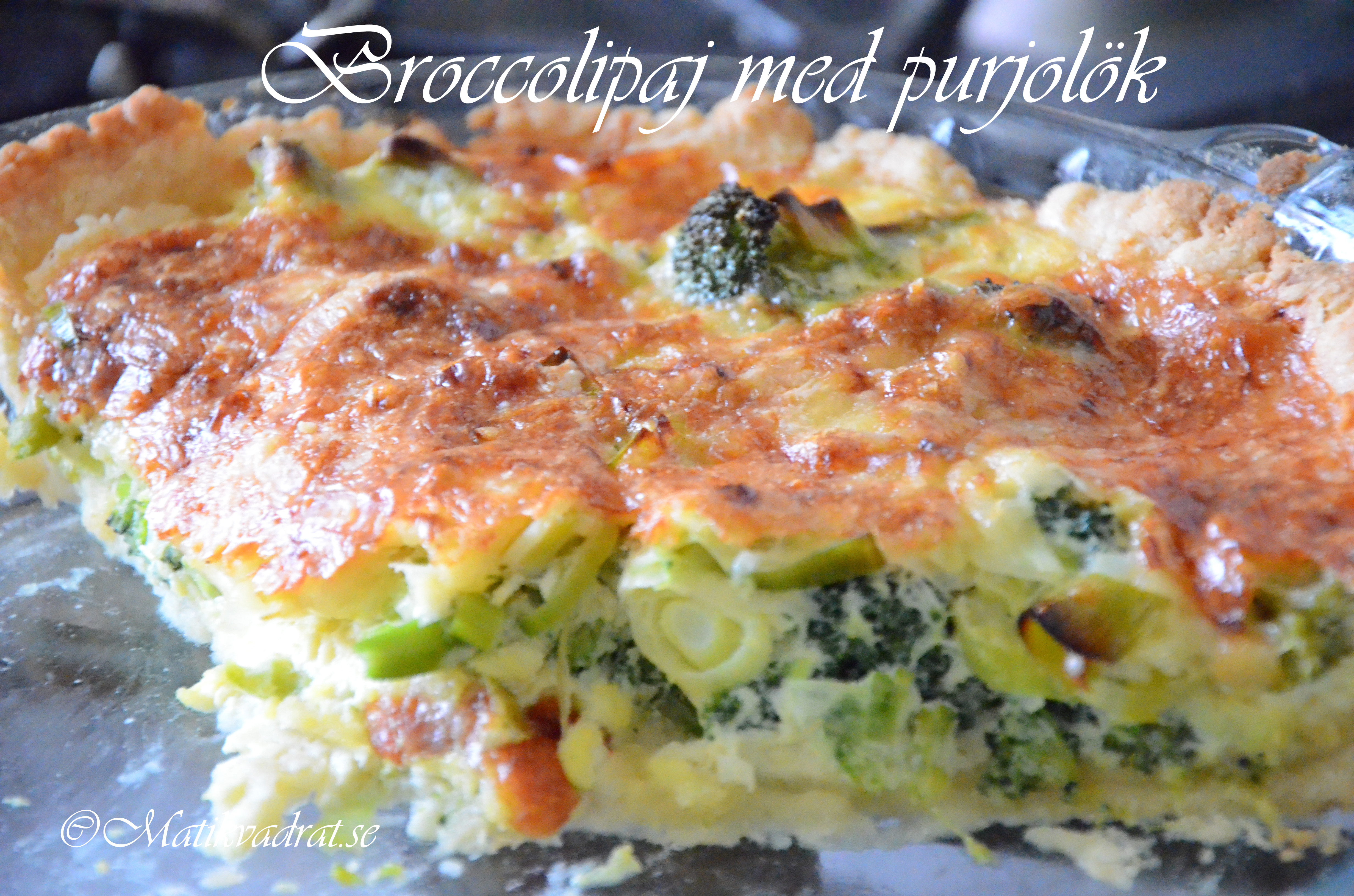 vegetarisk paj broccoli