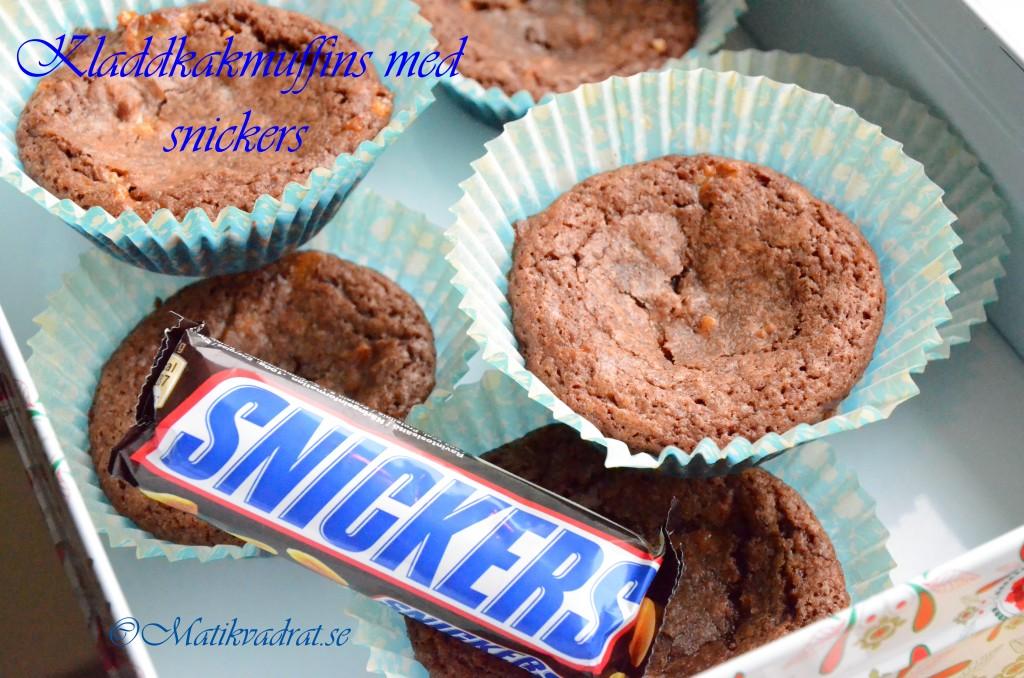 Kladdkakemuffins snickers brownie muffins