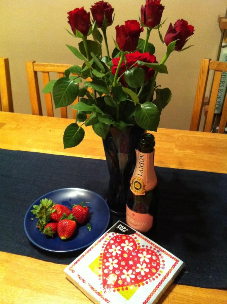 Rosor och champagne
