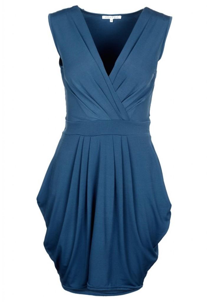 petrolblå klänning