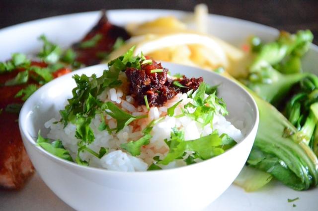 ris och koriander