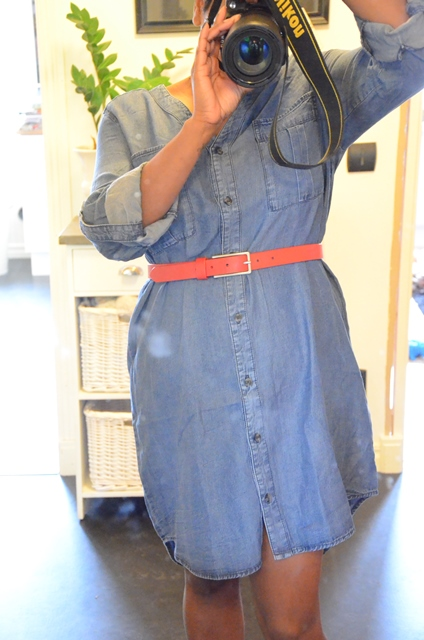 jeansklänning