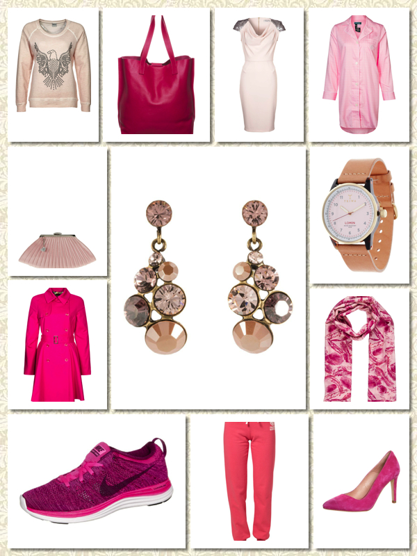 pink clothes and accessories