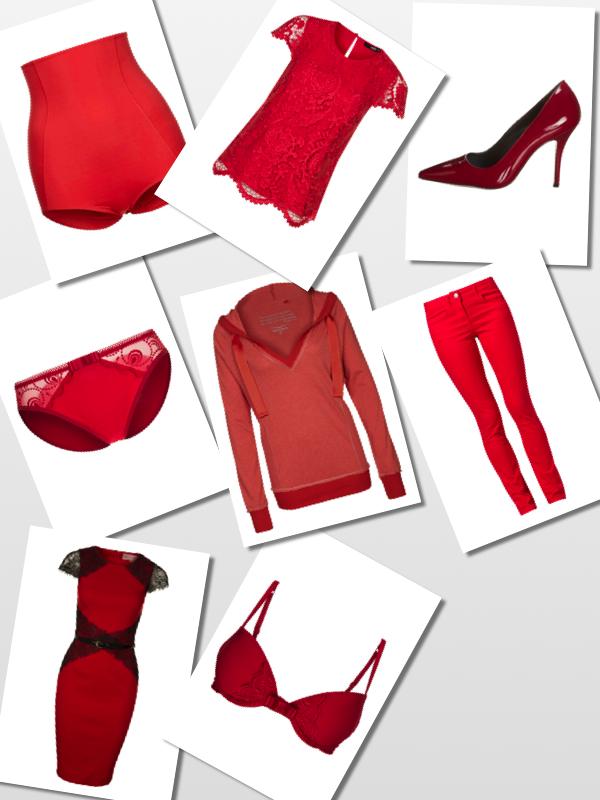 röda kläder zalando