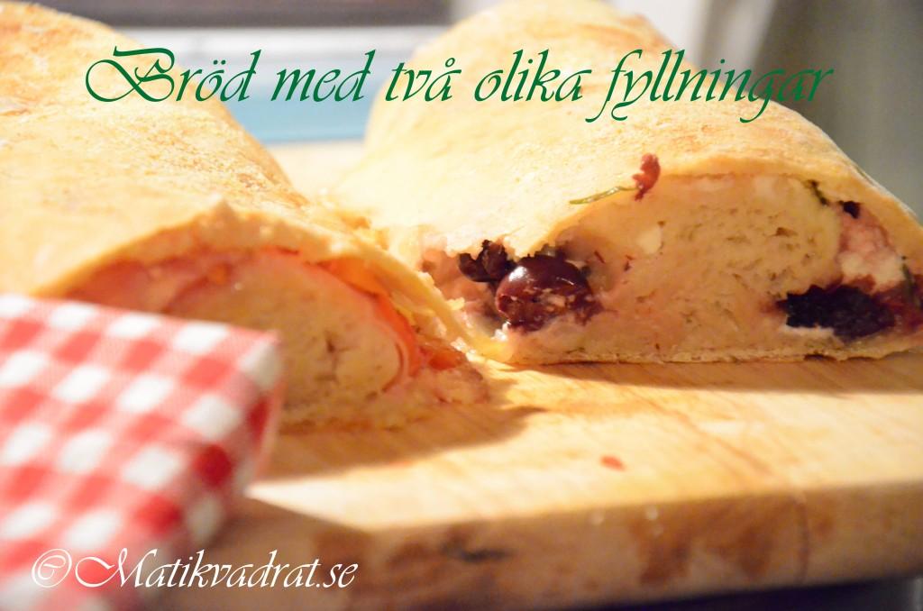 Bröd med olika fyllningar copyright