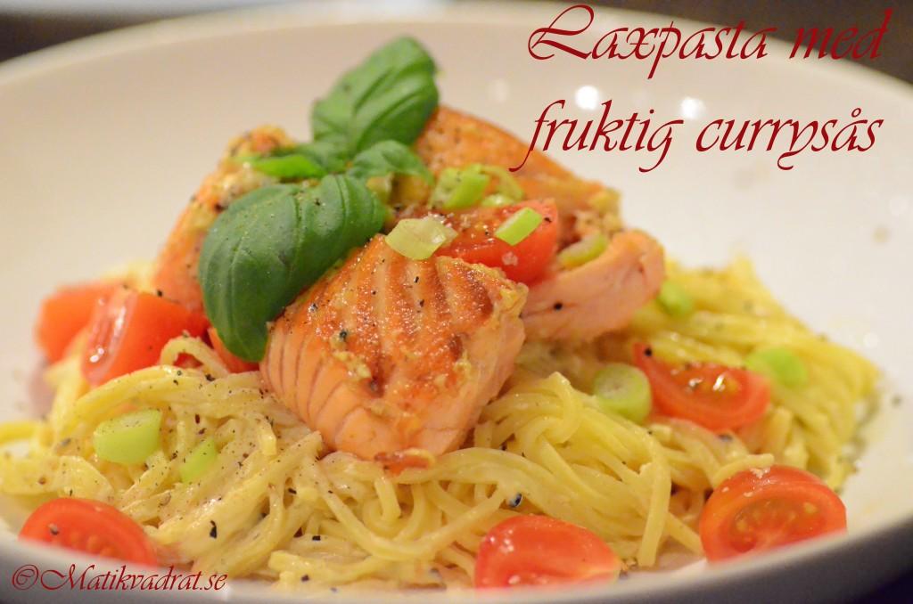 Laxpasta fruktig currysås copyright