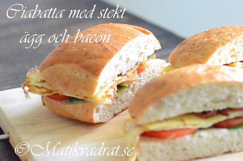 Stekt ägg och baconmacka 2 copyright