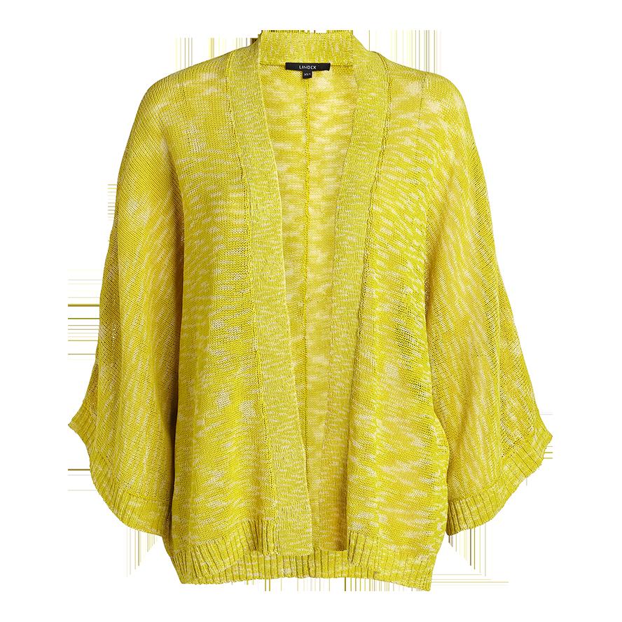 gul öppen cardigan