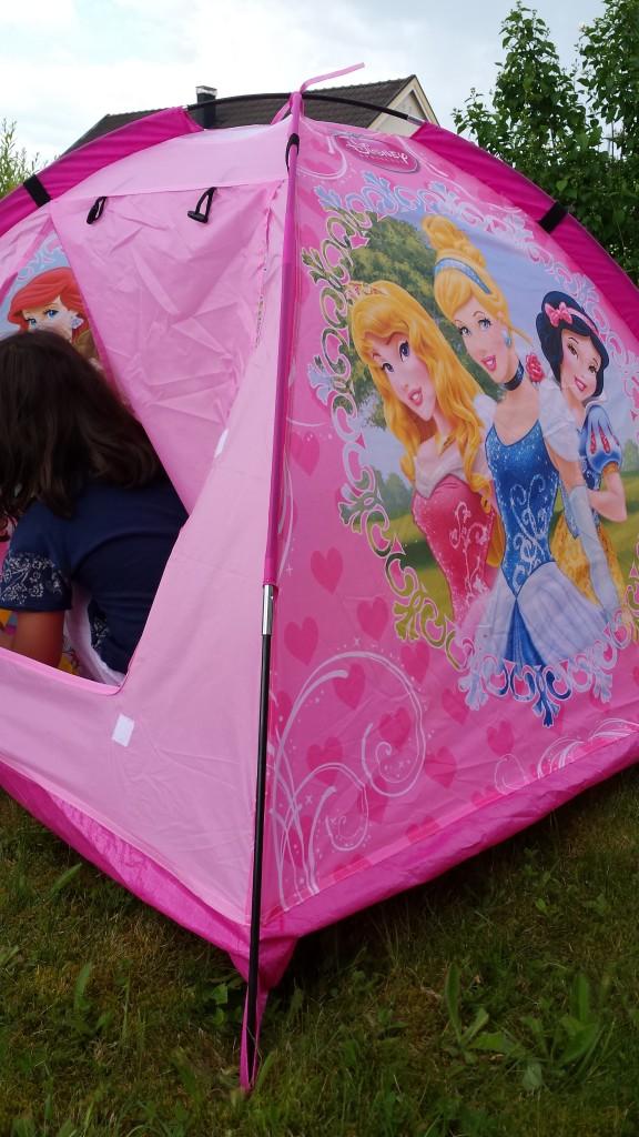rosa tält