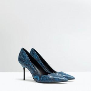 blå klackskor