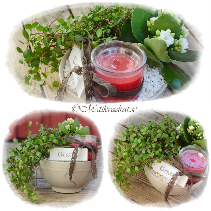 blomgrupp med doftljus copyright