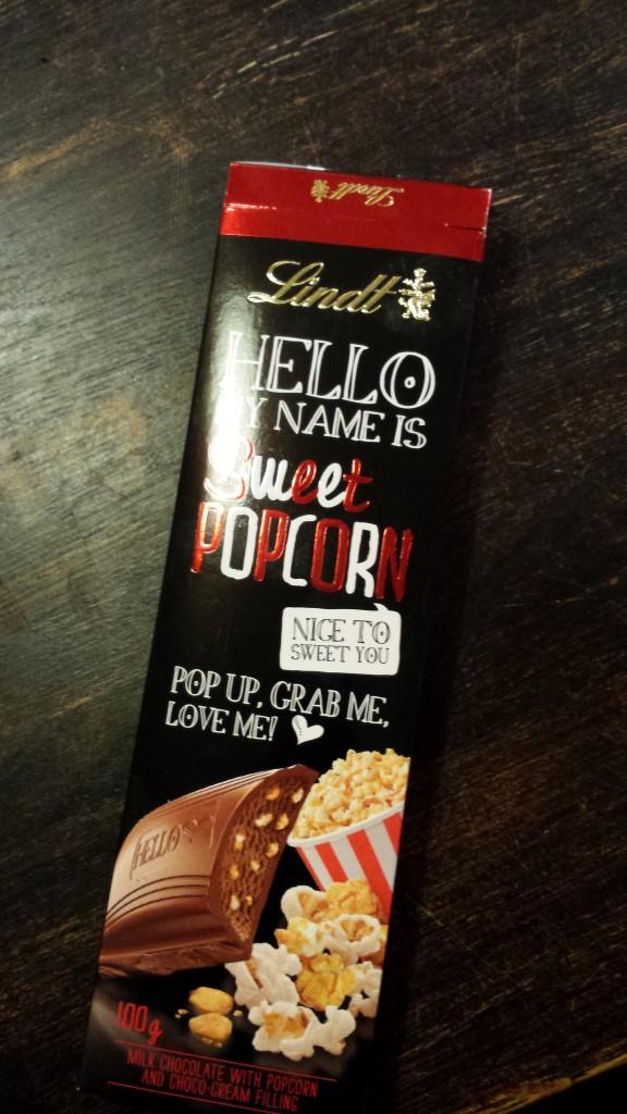 choklad med popcorn