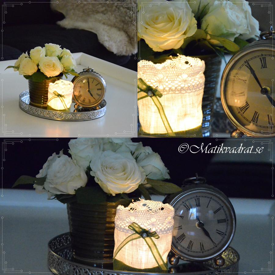 dekoration rosor och klocka copyright