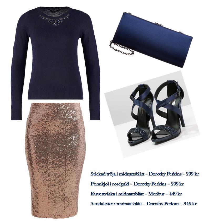 Midnattsblå outfit