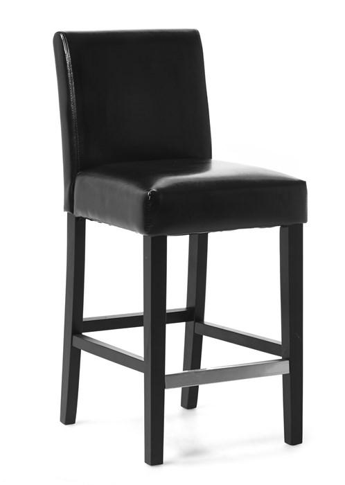 svart barstol skinn